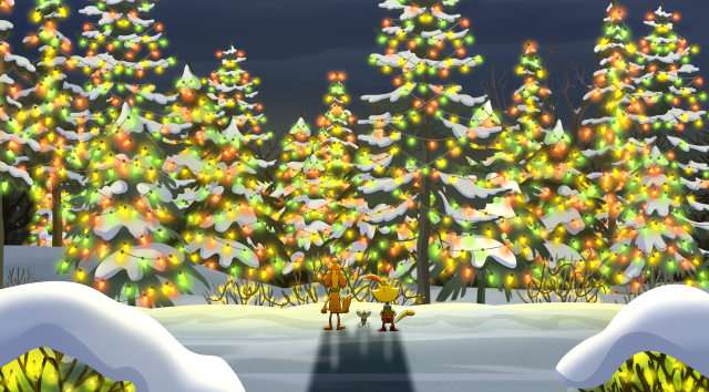 Still from PBS KIDS AT THE ALAMO: NATURE CAT: A NATURE CAROL