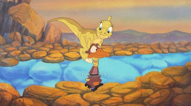 Still from THE LAND BEFORE TIME - Presented with Texas Vertebrate Paleontology Collections